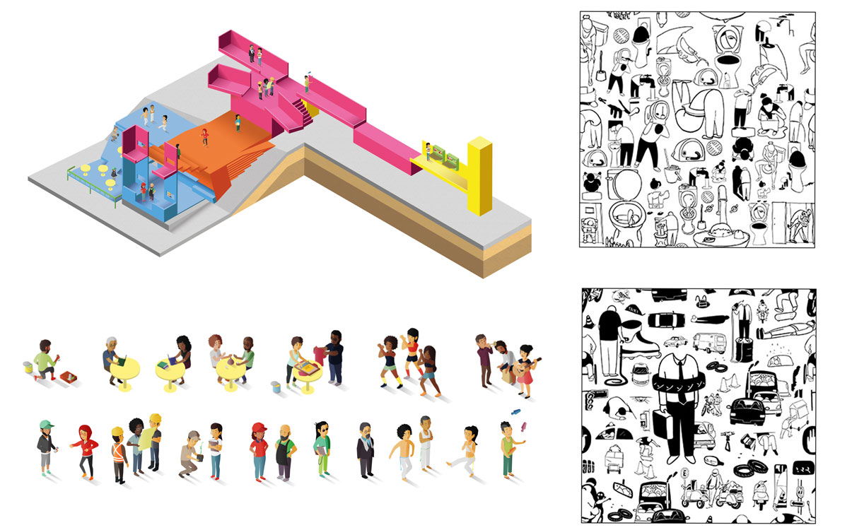 Ilutración para el Parque Cultural Tiuna el Fuerte