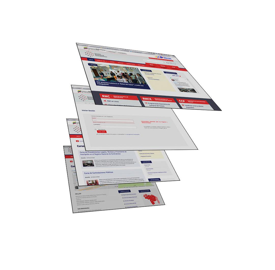 Desarrollo web para el Servicio Nacional de Contrataciones
