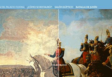 Diseño de interfaz para Espacios que recorren la República (sección de patrimonio artísitico)