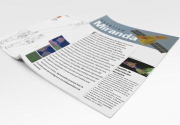 Diseño editorial para el Satélite Miranda